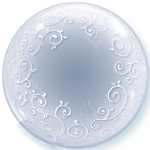 "24"" Deco Bubble - Fancy Filigree Bubble Balloon"